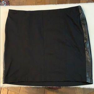 Lane Bryant skirt w/ faux leather stripe down side